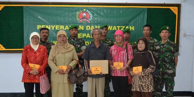 Santunan Watzah bagi Ahli Waris Mantan Anggota TNI