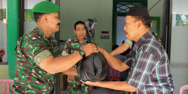 Kodim 0725/Sragen Gelar Bakti Sosial Pengobatan Massal dan Pembagian Sembako Gratis