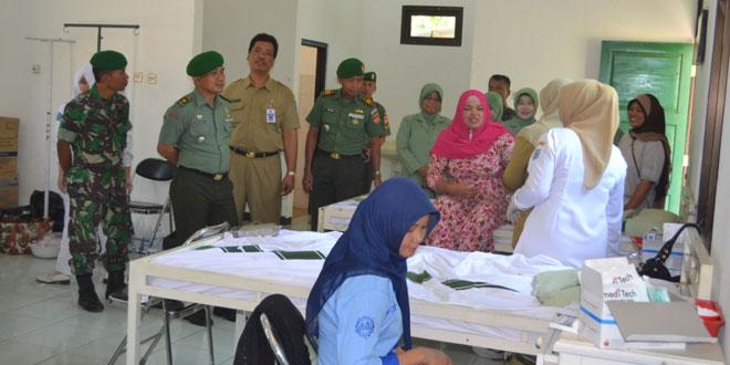 Kodim 0712/Tegal Gelar Bakti Sosial KB Kes Manunggal TNI