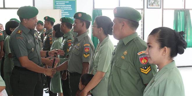 20 Prajurit Kodim 0734/Yogyakarta Naik Pangkat