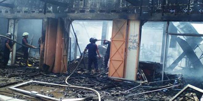 Kebakaran Mini Market di Desa Pantirejo Kec. Sukodono
