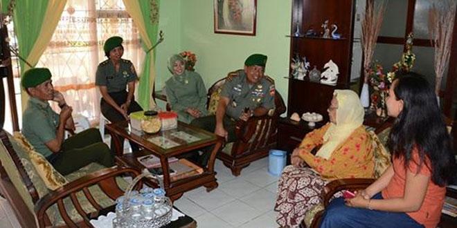 Danrem 071/Wk Anjangsana Keluarga Petinggi TNI-TNI AD