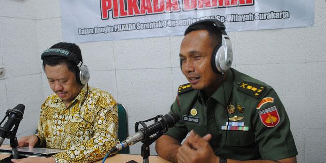 Kasrem 074/Wrt Dialog Interaktif di RRI Surakarta