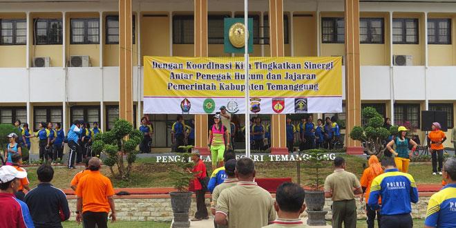 Olah Raga Bersama FKPD TNI POLRI Kabupaten Temanggung