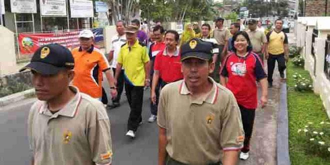Koramil 25/Purwokerto Selatan Gelar Jalan Sehat