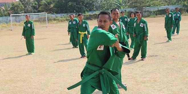 Latihan Bela Diri Yong Moo Do Kenaikan Sabuk Hijau ke Sabuk Biru di Stadion Karangbhirahi Brebes