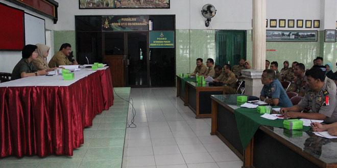 Kodim 0733-BS Semarang Gelar Rapat Persiapan Upacara Peringatan Sumpah Pemuda Ke-87