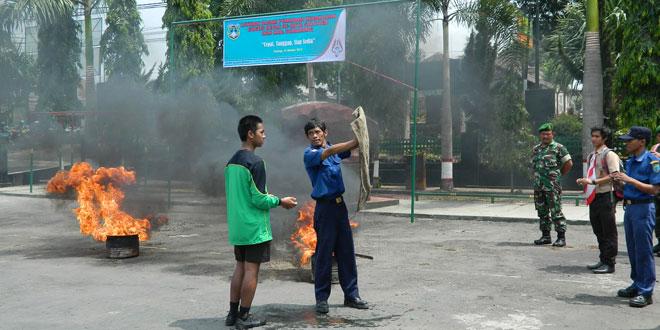 Latihan Bersama Pemadam Kebakaran Pramuka se Kota Salatiga