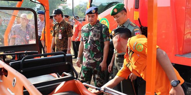 Kodim 0733-BS/Semarang Ikuti Apel Kesiapsiagaan Bencana Alam 2015/2016