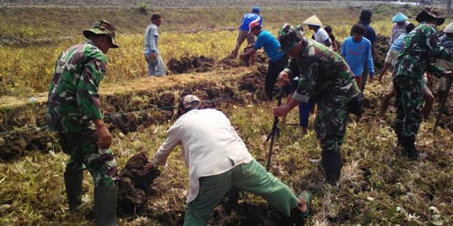 Babinsa Koramil 02/Gombong Bersama Rakyat Gugur Gunung