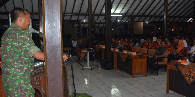 Kasrem 071/WK Berikan Pembekalan Wawasan Kebangsaan Pemuda Pancasila