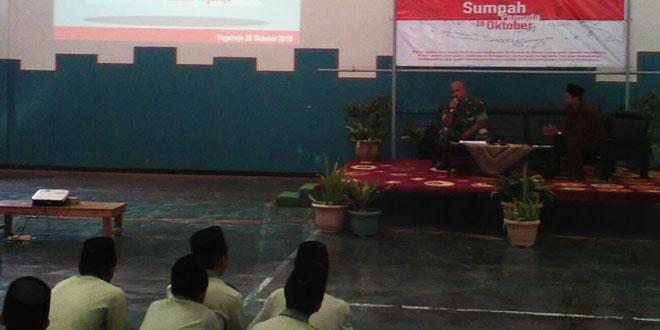 Peringati Sumpah Pemuda, Koramil 09/Tegalrejo Sosialisasikan Wawasan Kebangsaan dan Bela Negara