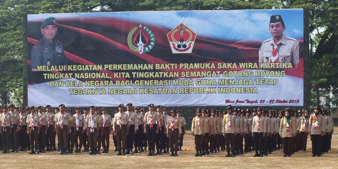 """Saka Wira Kartika """"Raden Mas Said"""" Kodim 0728/Wonogiri Kemah Tingkat Nasional Th. 2015 di Blora"""