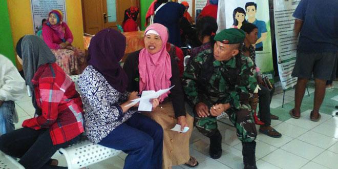 Babinsa Ngablak Pelayanan KB di Ngablak Magelang