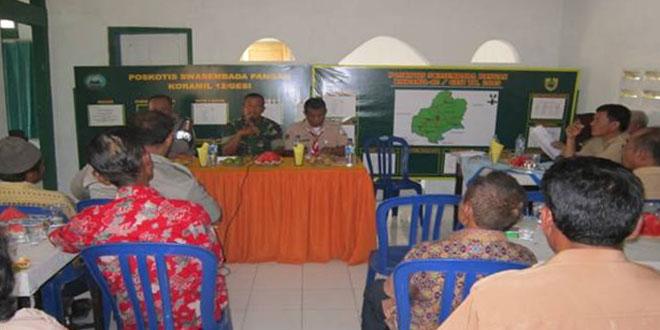 Pertemuan Gapoktan dan PPL di Koramil 12/Gesi