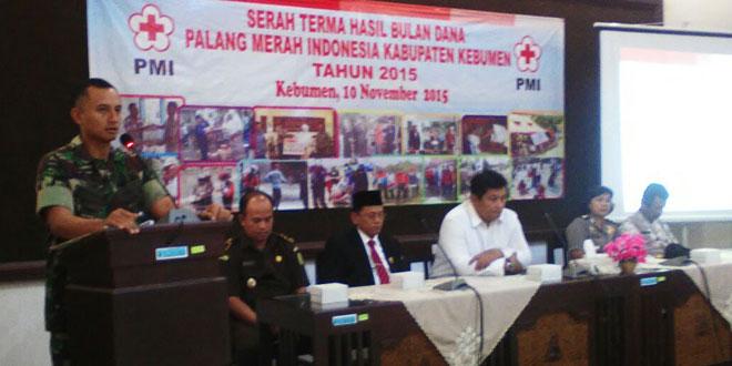 Kodim 0709/Kebumen Capai Target Bulan Dana PMI