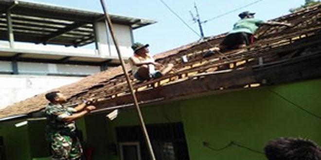 Pembenahan Rumah Dinas Koramil 10/Gajah Mungkur