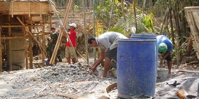 Koramil 16/Bagelen Laksanakan Karya Bhakti di Desa Krendetan Kecamatan Bagelen