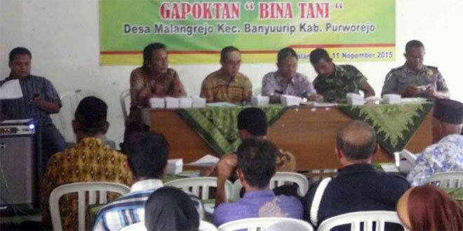 Danramil 04/Banyuurip Beserta Muspika Hadiri RAT dan Rapat Gapoktan Bina Tani Desa Malangrejo