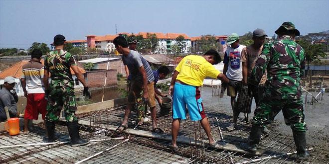 Koramil 11/Pedurungan Kodim 0733-BS/Semarang Laksanakan Karya Bhakti Bersama Masyarakat