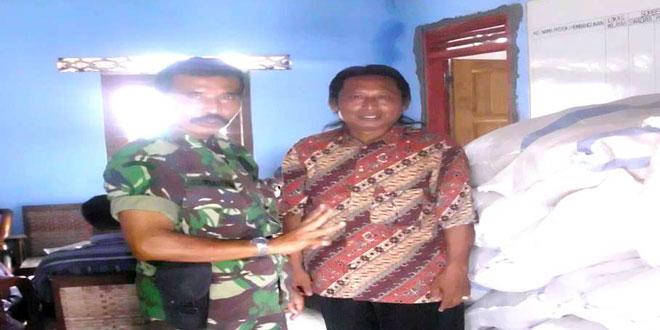 Danramil 04/Banyuurip Beserta Kepala Desa Malangrejo Cek Pendistribusian Bibit