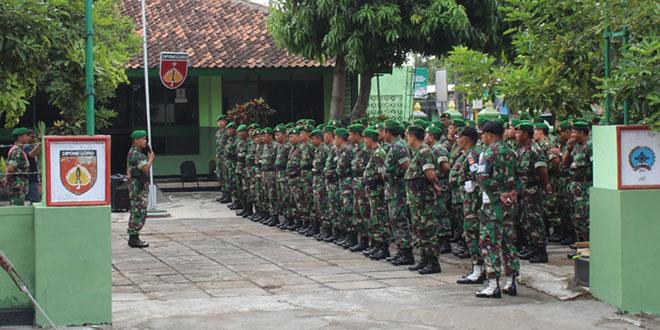 Kodim 0734/Yogyakarta Laksanakan Apel Danramil dan Babinsa