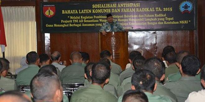 Sosialisasi Paham Radikal dan Balatkom Korem 072/Pmk