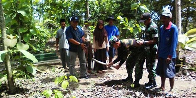 Kodim 0709/Kebumen Melaksnakan Penghijauan di TPU Kab Kebumen