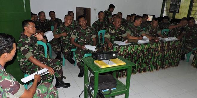 Pasiter Kodim 0717/Purwodadi Beri Pengarahan ke Para Bati Tuud di Makoramil