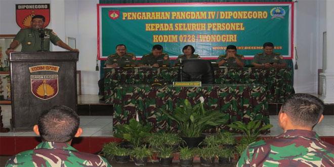 Pangdam IV/Diponegoro Melaksanakan Kunjungan di Kodim 0728/Wonogiri
