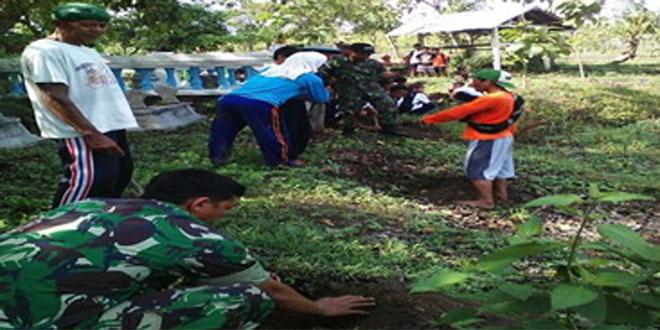 Koramil 07/Sambong Melaksanakan Penghijauan di Desa Gadu