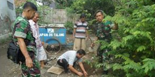 Koramil 08/Talang Melaksnakan Kegiatan Penanaman Pohon di Wilayah