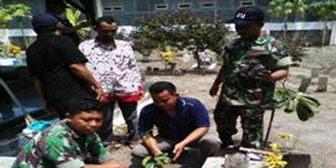 Koramil 03/Sumurpanggang Melaksanakan Kegiatan Penanaman Pohon Nangka di TPU Kelurahan Kaliyamat Kulon