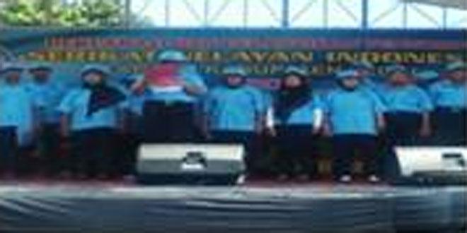 Danramil 06/Kramat Menghadiri Pelantikan SNI Kab. Tegal