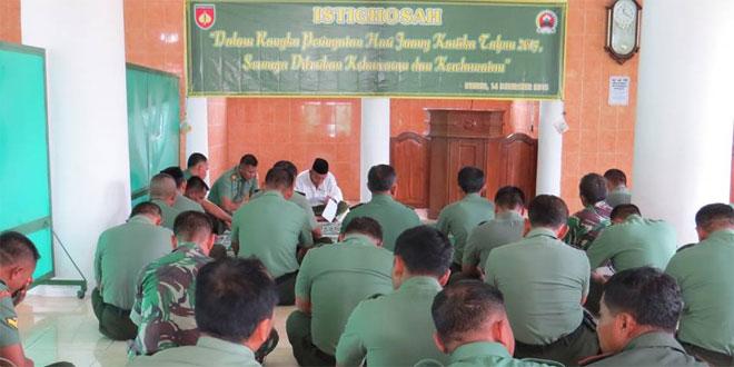 Kodim 0713/Brebes Gelar Istighosah dan Doa Bersama Dalam Rangka Hari Juang Kartika Ke 70 Tahun 2015