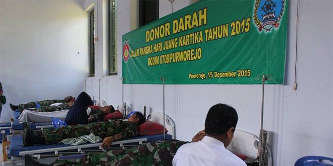 Kodim 0708/Purworejo Adakan Donor Darah