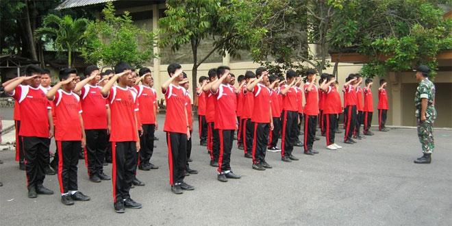 TNI Kodim 0728/Wonogiri Melatih PBB kepada 777 Siswa Siswi SMPN-6 Wonogiri