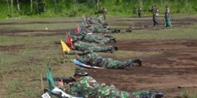Korem 073/Makutarama Adakan Latihan Menembak