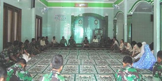 Korem 073/Makutarama Gelar Bintal di Masjid At Taqwa