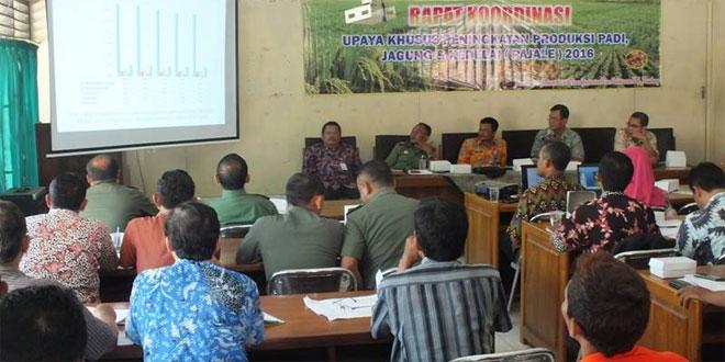 Kodim 0720/Rembang Hadiri Rakor Upsus Peningkatan Produksi Pajale 2016