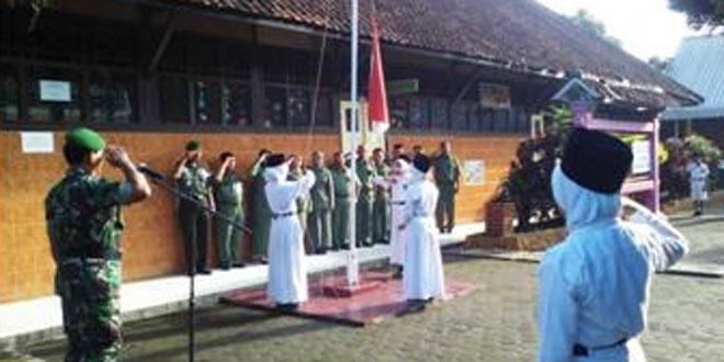 Upacara Bendera di Wilayah Koramil 19/Bumijawa