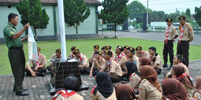 Saka Wira Kartika Kodim 0732/Sleman Terima Pembekalan Navrad dan Peta