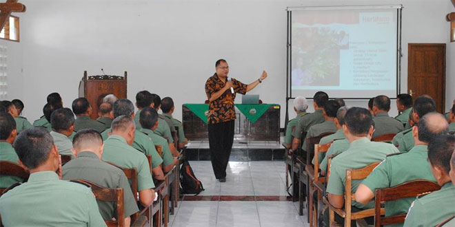 Danramil Jajaran Korem 074/Wrt Ikuti Sosialisasi Penghijauan Pola Padat Karya