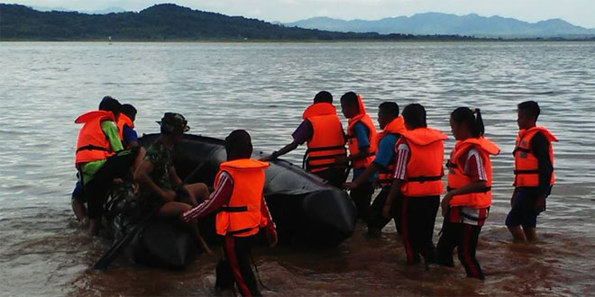 """Saka Wira Kartika """"Raden Mas Said"""" Kodim 0728/Wonogiri Berlatih Krida Penanganan Bencana"""