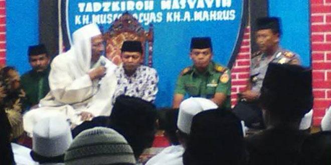 Danramil Jumo Bersilaturohmi dengan Habib Lutfi