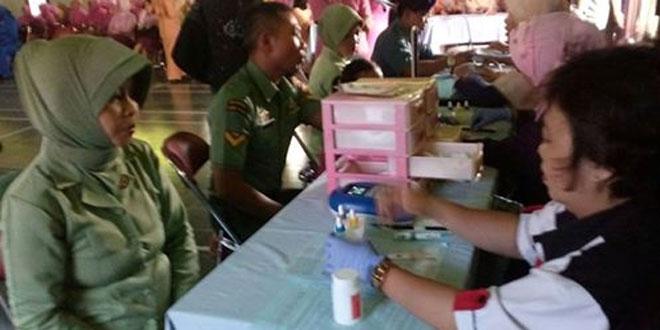 Peringati Hari Kartini Persit Kodim 0732/Sleman Ikuti Donor Darah