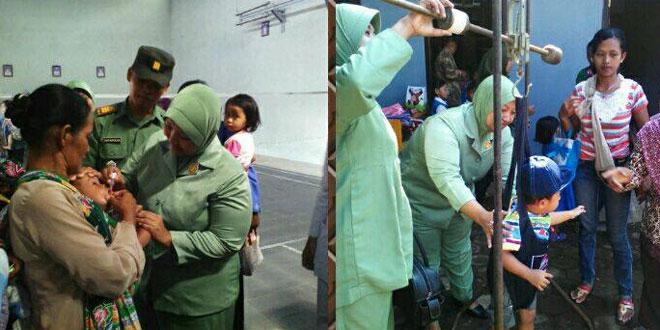 Danramil 06/Jumo Pantau Pelaksanaan Program Imunisasi Nasional di Wilayah Kec. Jumo dan Gemawang