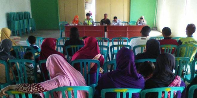 Babinsa, Wakil Puskesmas dan Depag Mensosialisasikan PIN di Desa Gandurejo