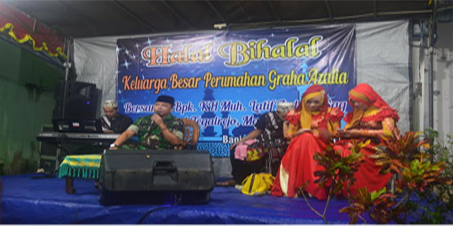 Swalah bersama ustad Kodim Magelang