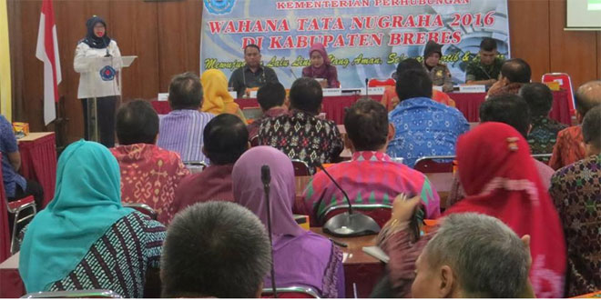 Dandim Hadiri Paparan Tim Penilai Kemenhub Wahana Tata Nugraha Tahun 2016 di Kabupaten Brebes